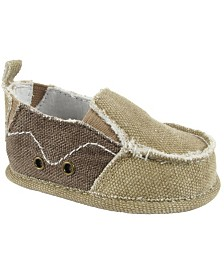 Baby Deer Baby Boy  Canvas Slip-On with Side Gore