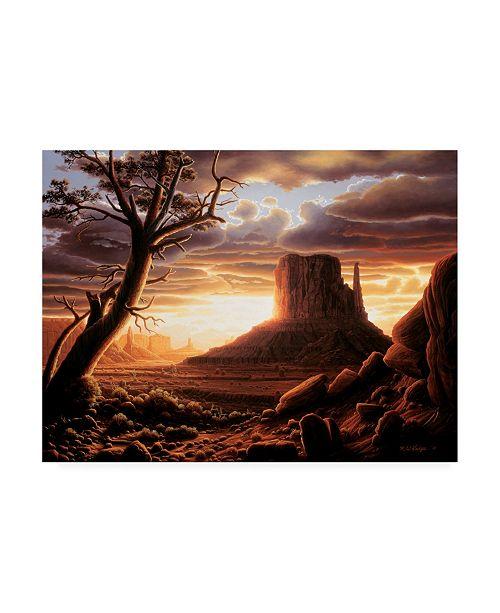 "Trademark Global R W Hedge The Southwest Sun Canvas Art - 15.5"" x 21"""