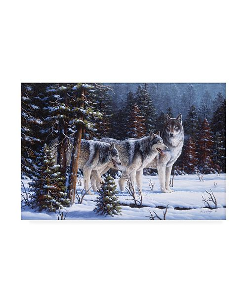 "Trademark Global R W Hedge Winter Coats Canvas Art - 27"" x 33.5"""