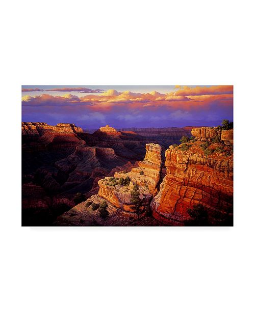 "Trademark Global R W Hedge Symphony Canyon Canvas Art - 19.5"" x 26"""