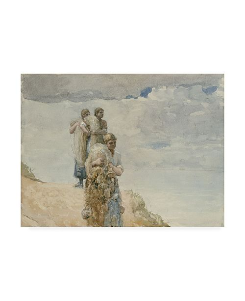"""Trademark Global Winslow Homer On the Cliff, Cullercoats Canvas Art - 36.5"""" x 48"""""""