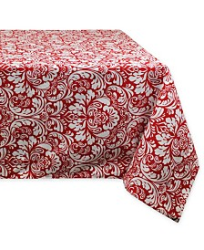 """Design Imports Damask Tablecloth 52"""" x 52"""""""