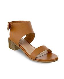 Olivia Miller Cocoa Chunky Heel Buckle Sandals