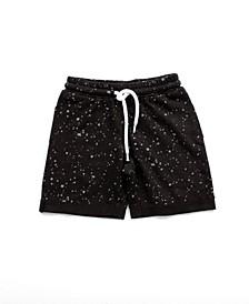 Little and Big Boys Splatter Print Jogger Shorts