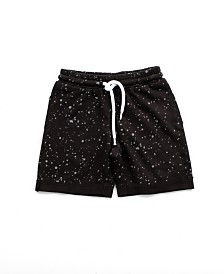 Bear Camp Little Boy Splatter Print Jogger Shorts