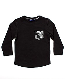 Bear Camp Little Boy Long Sleeve Pocket Tee