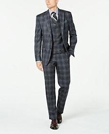 Lauren Ralph Lauren Men's Classic-Fit UltraFlex Stretch Charcoal Plaid Suit Separates