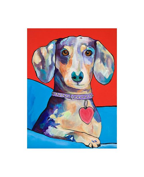 "Trademark Global Pat Saunders-White Beverly Dachshund Canvas Art - 15.5"" x 21"""