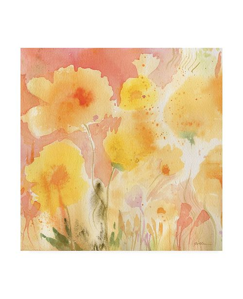 "Trademark Global Sheila Golden Coral Sky, Yellow Garden 2 Canvas Art - 15.5"" x 21"""