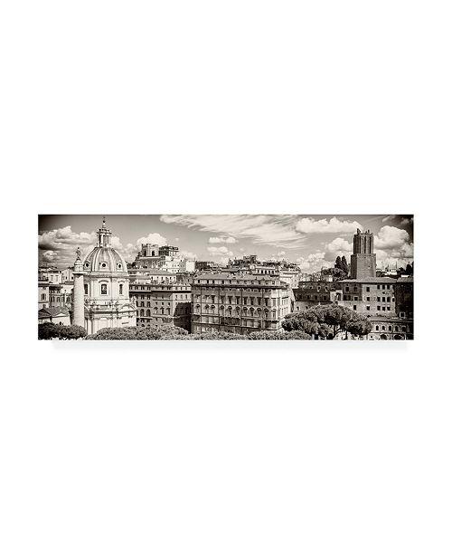 "Trademark Global Philippe Hugonnard Dolce Vita Rome 2 View of Rome IX Canvas Art - 36.5"" x 48"""