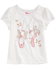 Epic Threads Little Girls Ballet Slippers T-Shirt, Created for Macy's