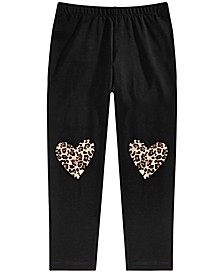 Toddler Girls Heart Knee Leggings, Created for Macy's
