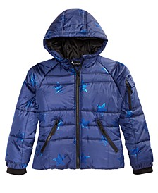 Big Girls Hooded Star-Print Coat