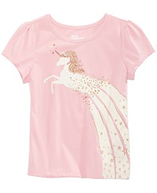 Epic Threads Little Girls Rainbow Unicorn T-Shirt, Created for Macy's
