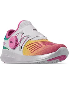 New Balance Little Girls BKO V1 Stay-Put Closure Casual Athletic Sneakers from Finish Line