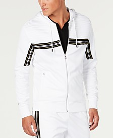 I.N.C. Men's Chest Stripe Zip-Front Hoodie, Created for Macy's