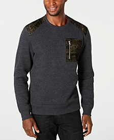 INC Men's Mesh Trim Sweater, Created for Macy's