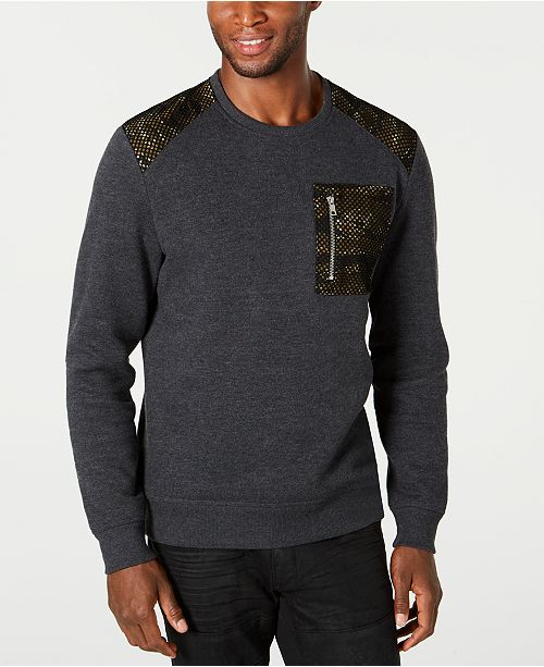 INC International Concepts INC Men's Mesh Trim Sweater, Created for Macy's