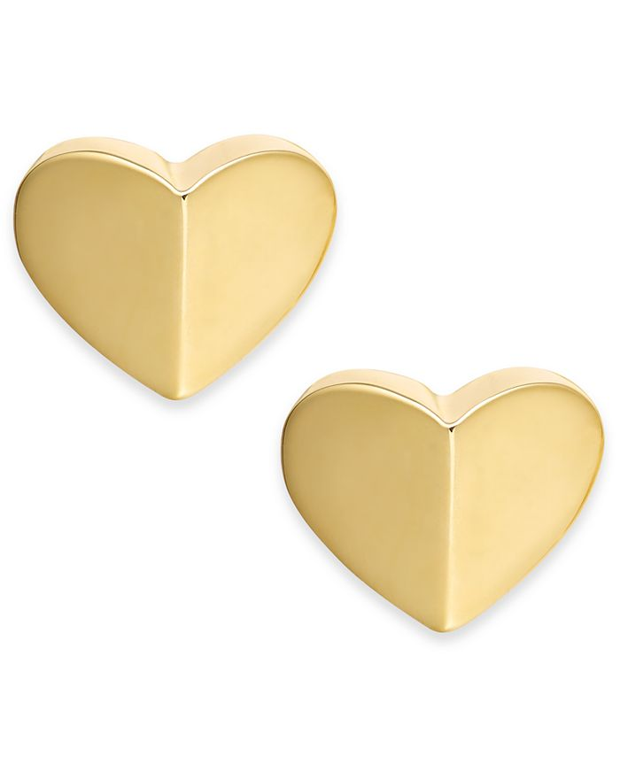 kate spade new york - Gold-Tone, Silver-Tone or Rose-Gold Tone Small Heart Stud Earrings