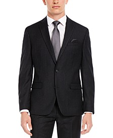 Men's Slim-Fit Black Stripe Suit Separate Jacket, Created for Macy's
