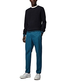 BOSS Men's Paper-Touch Slim-Fit Trousers