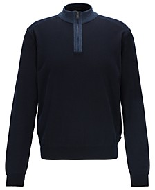 BOSS Men's Jannes Zip-Neck Sweater