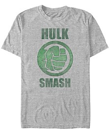 Marvel Men's Comic Collection Classic The Hulk Smash Short Sleeve T-Shirt