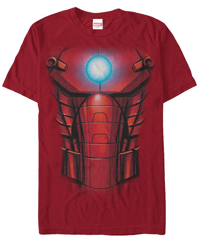 Marvel Men's Comic Collection Iron Mans Suit Upgraded Short Sleeve T-Shirt