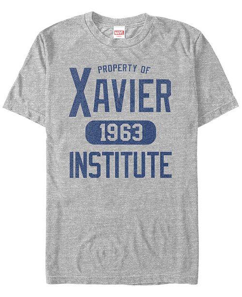 Marvel Men's Comic Collection Property of Xavier Short Sleeve T-Shirt