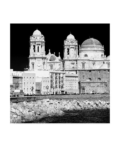 "Trademark Global Philippe Hugonnard Made in Spain 3 City of Cadiz B&W II Canvas Art - 15.5"" x 21"""