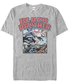 Marvel Men's Black Panther Collage Short Sleeve T-Shirt