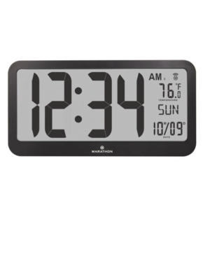 Marathon Panoramic Atomic Wall Clock