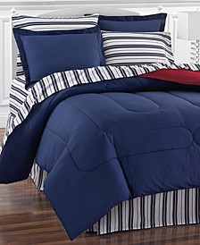 Navy Yard Reversible 8-Pc. Bedding Sets