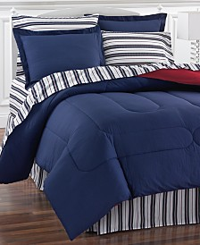 Navy Yard Reversible 8-Pc. Bedding Ensembles