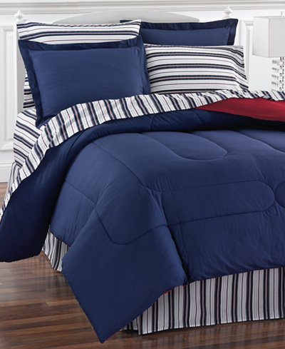 Navy Yard Reversible Bedding Ensembles, Created for
