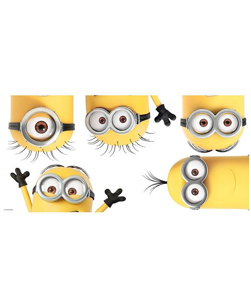 York Wallcoverings Despicable 3 Peeking Minions Peel and Stick Giant Wall Decals