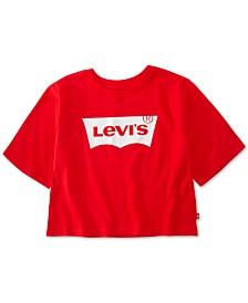 Levi's® Big Girls Cotton Cropped Logo T-Shirt