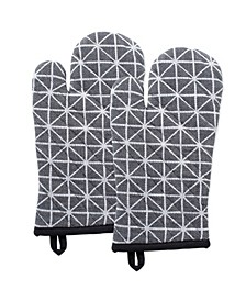 Triangle Oven Mitt Set of 2