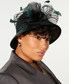 August Hats Pleated Satin Cloche