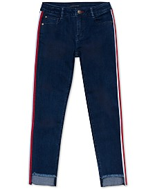 Tommy Hilfiger Baby Girls Side-Stripe Step-Hem Skinny Jeans