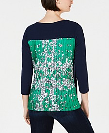 Petite Pleated-Back Top, Created For Macy's