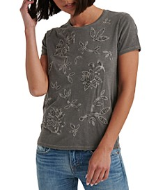Embroidered Appliqué T-Shirt