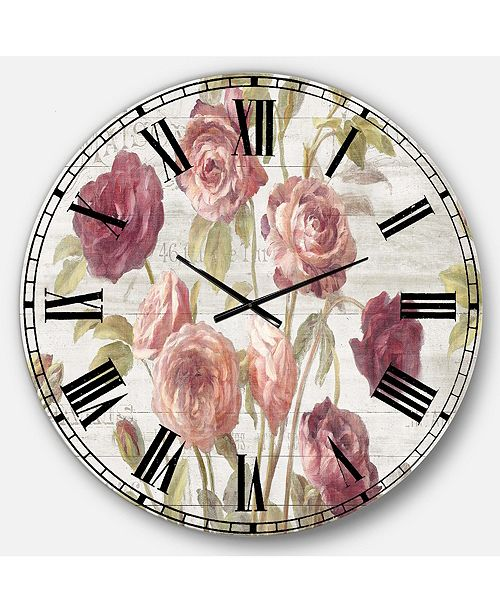 Designart Farmhouse Oversized Metal Wall Clock