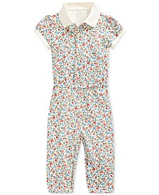 Baby Girls Stretch Mesh Jumpsuit