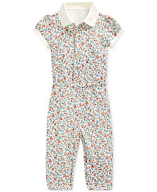 Polo Ralph Lauren Baby Girls Stretch Mesh Jumpsuit