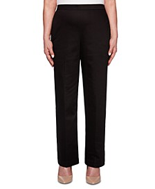Petite Sateen Pull-On Street Smart Pants