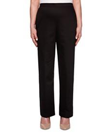 Petite Sateen Pull-On Street Smart Pants