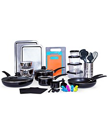 Kitchen-In-A-Box 64-Pc. Cookware & Food Storage Set