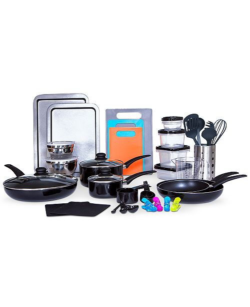 Sedona CLOSEOUT! Kitchen-In-A-Box 64-Pc. Cookware & Food Storage Set