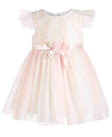 Bonnie Baby Baby Girls Lace Ballerina Dress